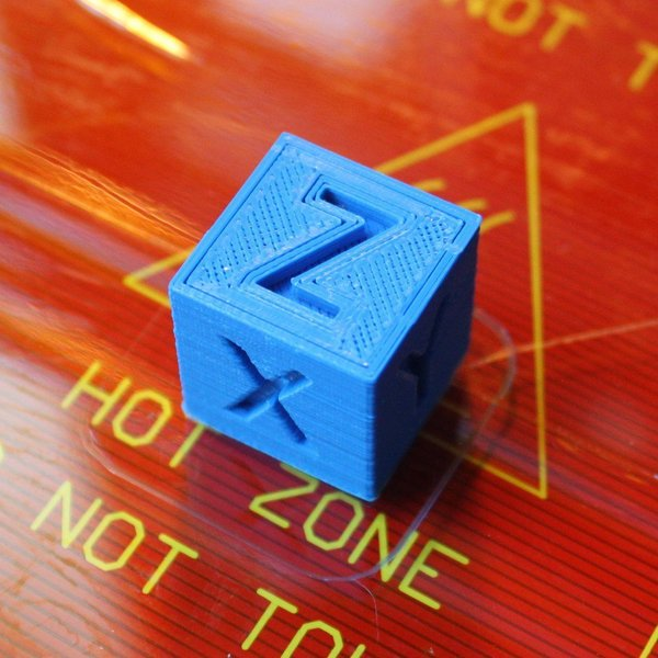Medium XYZ 20mm Calibration Cube 3D Printing 58996