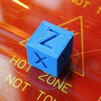 Small XYZ 20mm Calibration Cube 3D Printing 58996