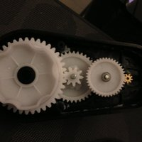 Small PowerWheels gearbox. 3D Printing 59308
