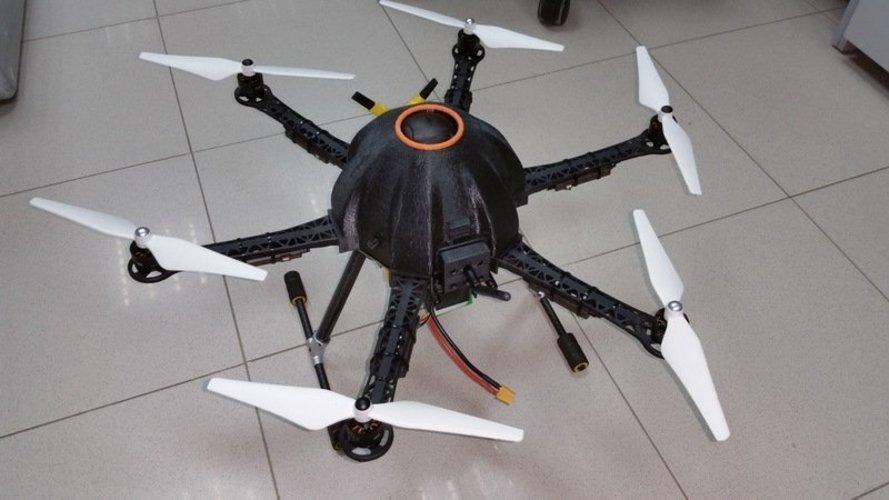 3D Printed Canopy for hexacopter based in Thunder S550 frame V 1.0 ...