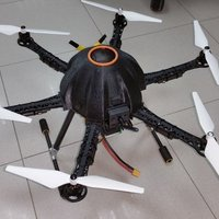 Small Canopy for hexacopter based in Thunder S550 frame V 1.0 3D Printing 59337