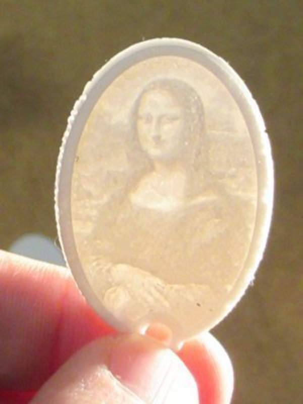 Medium Lithophane Keychain Classic Art Collection 3D Printing 59369