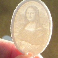 Small Lithophane Keychain Classic Art Collection 3D Printing 59369