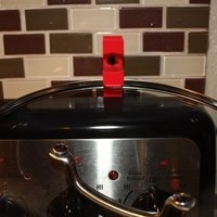 Small Stovetop Hot Lid Holder 3D Printing 59476