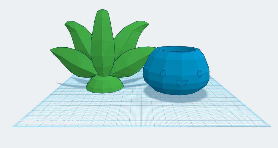 Oddish Planter with Lid 3D Print 59534