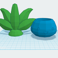 Small Oddish Planter with Lid 3D Printing 59534