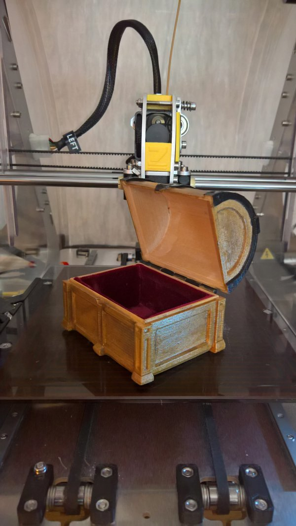 Medium Treasure chest 3D Printing 59654