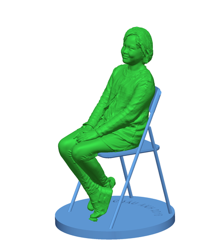 Children sitting - girl 140mm 3D Print 59686