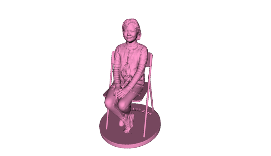 Children sitting - girl 140mm 3D Print 59687