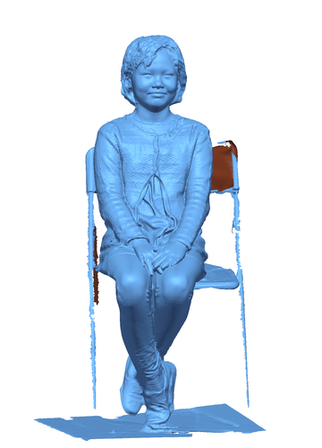 Children sitting - girl 140mm 3D Print 59688