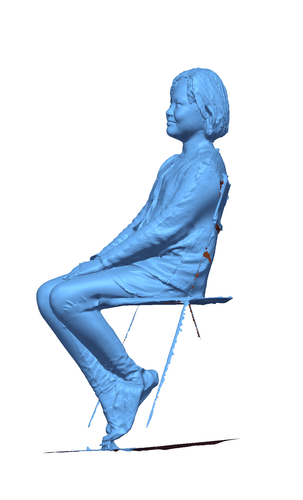 Children sitting - girl 140mm 3D Print 59689