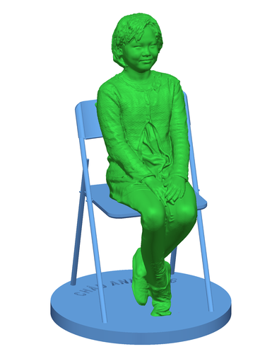 Children sitting - girl 140mm 3D Print 59690