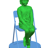 Small Children sitting - girl 140mm 3D Printing 59690