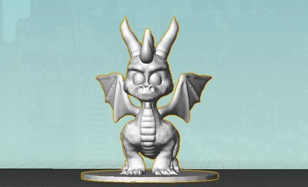 Medium Spyro Action Figure Collector Statue 3D Printing 59721