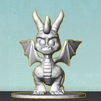 Small Spyro Action Figure Collector Statue 3D Printing 59721