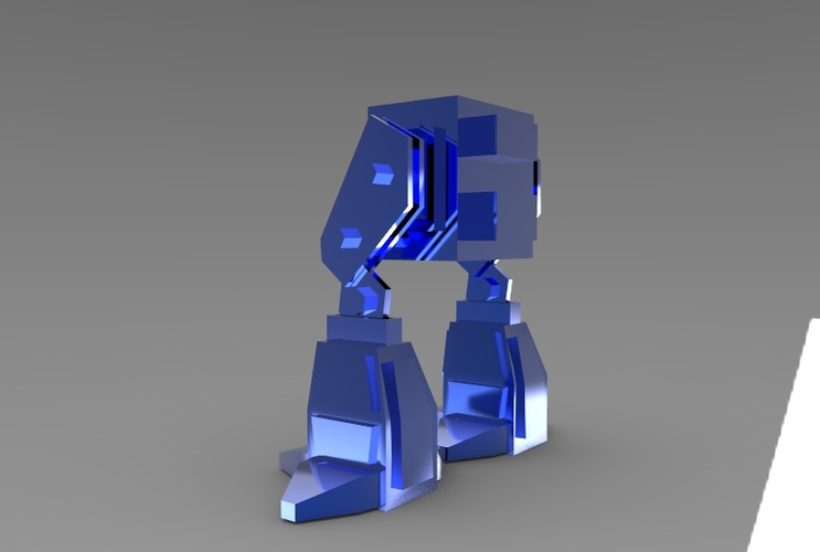 Low Poly Robot 3D Print 5973