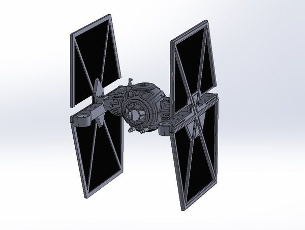 Medium StarWars TieFighter - 250 Racer Style 3D Printing 59732