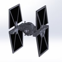 Small StarWars TieFighter - 250 Racer Style 3D Printing 59732