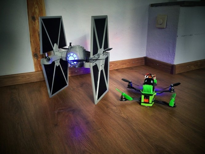 StarWars TieFighter - 250 Racer Style 3D Print 59734