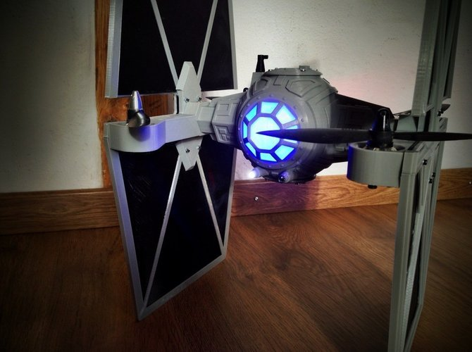 StarWars TieFighter - 250 Racer Style 3D Print 59735
