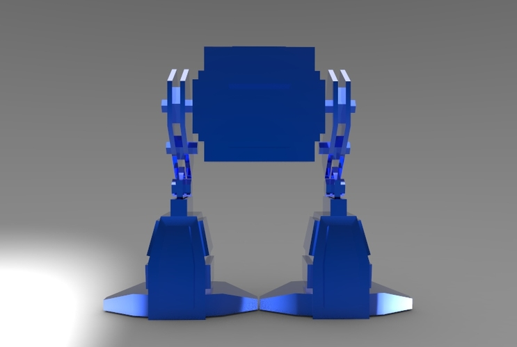Low Poly Robot 3D Print 5974