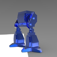 Small Low Poly Robot 3D Printing 5975