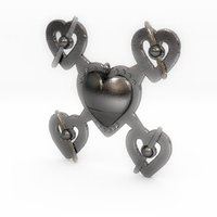 Small Hearts Drone Pendant  3D Printing 59762