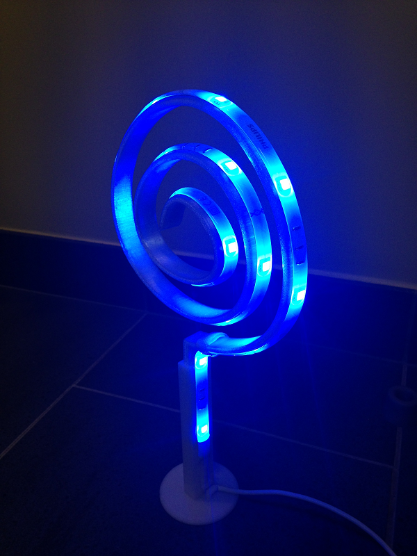 Medium Curl led lamp 3D Printing 59817