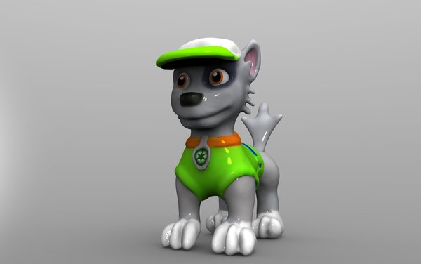 Medium Rocky Dog  Paw Patrol  3D Printing 59822