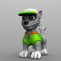 Small Rocky Dog  Paw Patrol  3D Printing 59822