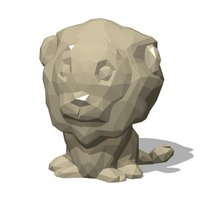 Small Low Poly Lion 3D Printing 59827