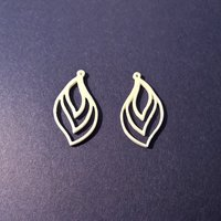Small Flame Earring 3D Printing 59829