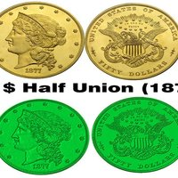Small Coin & Medal 50 $ Half Union (1877) 3D Printing 59837