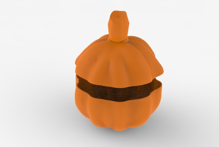 Low Poly Pumpkin Candy Recipient 3D Print 5987
