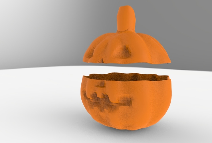 Low Poly Pumpkin Candy Recipient 3D Print 5989
