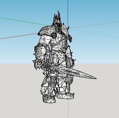 Arthas the Lich King from World of Warcraft (FIXED) 3D Print 59980