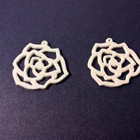 Small Flower Earring 3D Printing 60067
