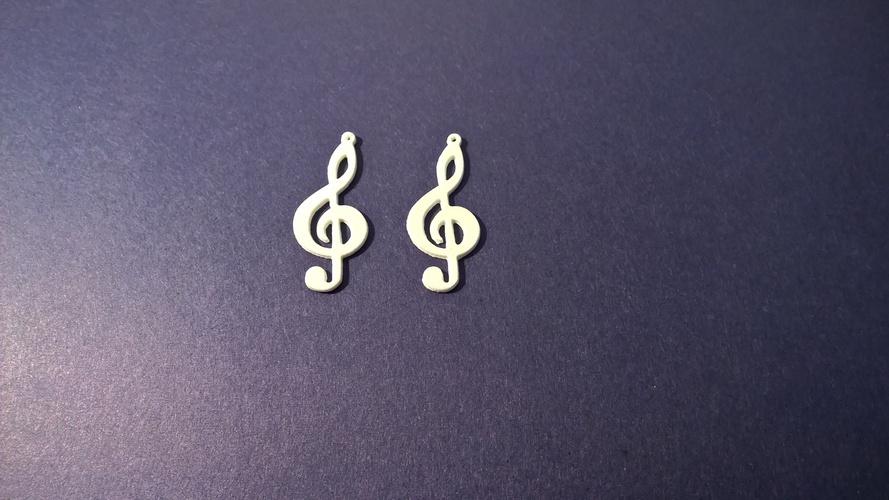 Treble Clef Earring Print 60070