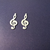 Small Treble Clef Earring 3D Printing 60070