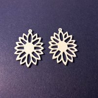 Small Sunflower Earring 3D Printing 60075