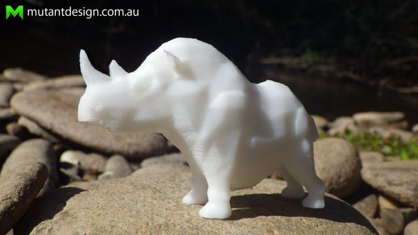 Medium Stumpy the Rhino 3D Printing 60229