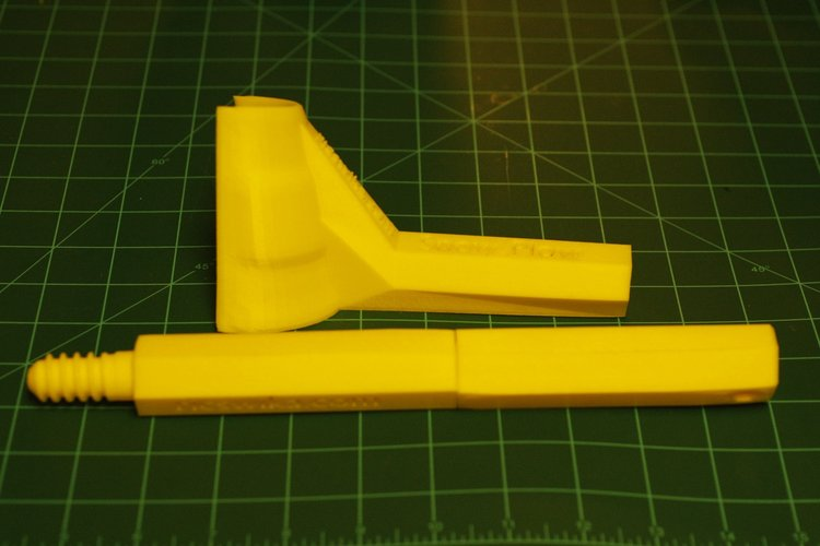 Ice Scraper with Poll Extension 3D Print 60329