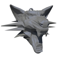 Small Witcher medallion 3D Printing 6052