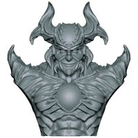 Small Demon Bust 3D Printing 60555