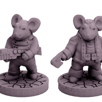 Small Mouse Pookah Fringers (18mm scale) 3D Printing 60742