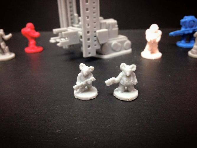 Mouse Pookah Fringers (18mm scale) 3D Print 60743
