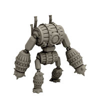 Small Barrel Golem (18mm scale) 3D Printing 60744