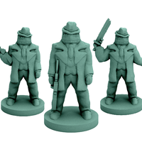 Small Yong Bu-Gong Racketeers (18mm scale) 3D Printing 60746