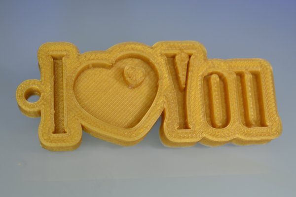 Medium Special Valentine's Day I Love You Keychain Hanger 3D Printing 60758