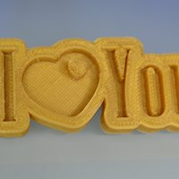 Small Special Valentine's Day I Love You Keychain Hanger 3D Printing 60758